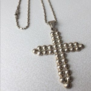 925 Sterling Silver Cross Pendant and Necklace
